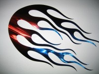 Flames Wall Art - Product Image